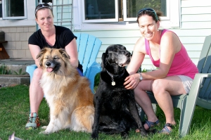 Gwen, Odin, Zoe, and Meg at home in Waitsfield, Vermont